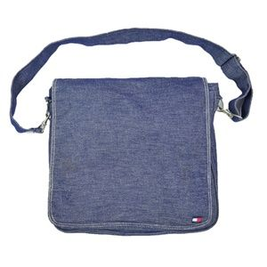 Vtg 90's Tommy Hilfiger Messenger Crossbody Bag